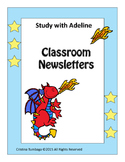 Freebie: Study with Adeline: Classroom Newsletters