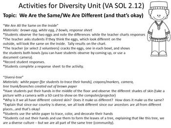 Studying About Diversity:  What Makes Us Different?  What Makes Us the Same?