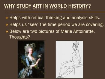 Studying Art in World History PowerPoint Presentation & Activity