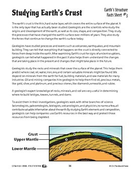 Studying Earth's Crust Lesson Plan