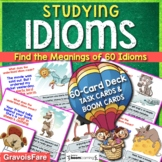 Studying Idioms Activity: 60 Task Cards and Boom Cards (di
