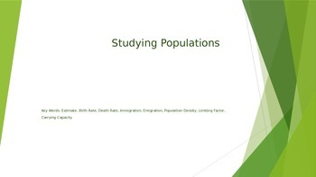 Studying Populations Powerpoint