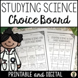 Studying Science and STEM Choice Board for the End of the