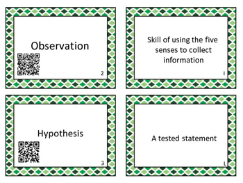 Studying Science Vocabulary Match-Up with QR Codes