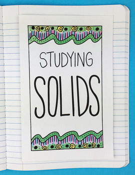 Studying Solids Foldable by Math Doodles