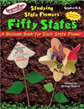 50 States --Studying State Flowers: A Blossom Book for Each State Flower