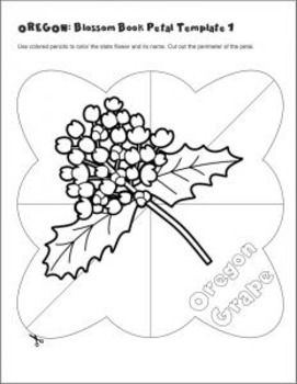 Studying State Flowers—OREGON: A Blossom Book of the State Flower