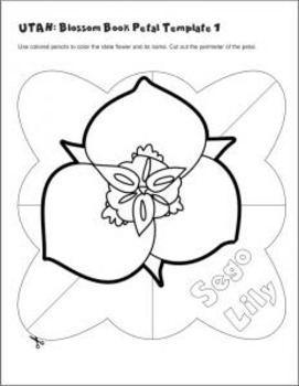 Studying State Flowers—UTAH: A Blossom Book of the State Flower