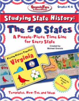 50 States -- Studying State History: A Puzzle-Piece Time L