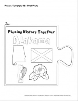 Studying State History: ALABAMA-- A Puzzle-Piece Time Line by GravoisFare