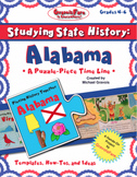 Studying State History: ALABAMA HISTORY-- A Puzzle-Piece Time Line