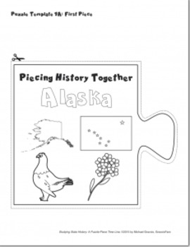 Studying State History: ALASKA-- A Puzzle-Piece Time Line by GravoisFare