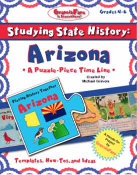 Studying State History: ARIZONA-- A Puzzle-Piece Time Line by GravoisFare
