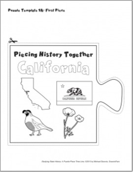 Studying State History: CALIFORNIA-- A Puzzle-Piece Time Line by GravoisFare