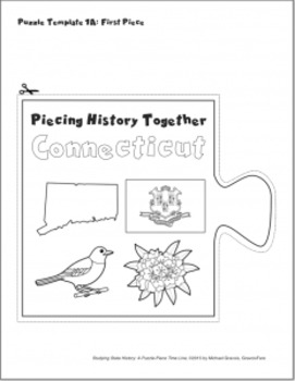 Studying State History: CONNECTICUT-- A Puzzle-Piece Time Line by GravoisFare