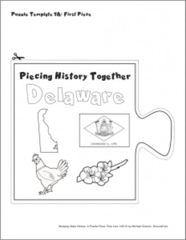 Studying State History: DELAWARE-- A Puzzle-Piece Time Line by GravoisFare