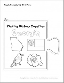 Studying State History: GEORGIA-- A Puzzle-Piece Time Line by GravoisFare