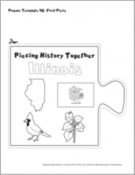 Studying State History: ILLINOIS-- A Puzzle-Piece Time Line by GravoisFare