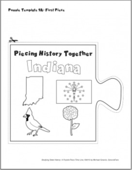 Studying State History: INDIANA-- A Puzzle-Piece Time Line by GravoisFare