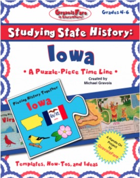 Studying State History: IOWA-- A Puzzle-Piece Time Line by GravoisFare