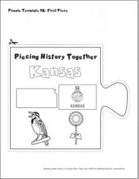 Studying State History: KANSAS-- A Puzzle-Piece Time Line by GravoisFare