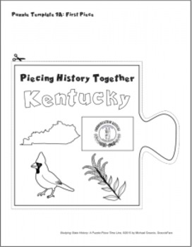 Studying State History: KENTUCKY-- A Puzzle-Piece Time Line by GravoisFare