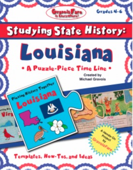 Studying State History: LOUISIANA-- A Puzzle-Piece Time Line by GravoisFare