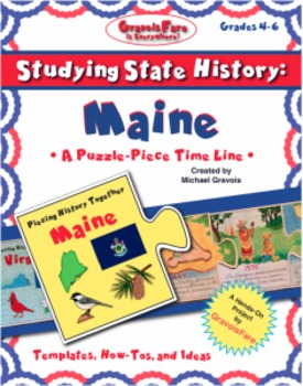 Studying State History: MAINE-- A Puzzle-Piece Time Line by GravoisFare