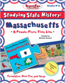Studying State History: MASSACHUSETTS-- A Puzzle-Piece Tim