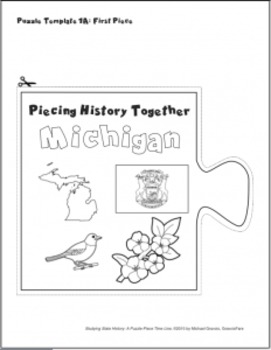 Studying State History: MICHIGAN-- A Puzzle-Piece Time Line by GravoisFare