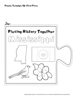 Studying State History: MISSISSIPPI-- A Puzzle-Piece Time Line by GravoisFare