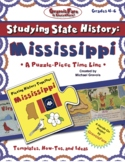 Studying State History: MISSISSIPPI HISTORY-- A Puzzle-Piece Time Line Activity