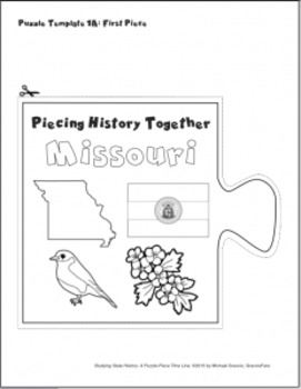 Studying State History: MISSOURI-- A Puzzle-Piece Time Line by GravoisFare