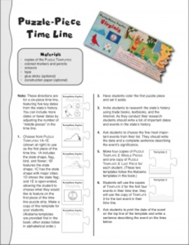 Studying State History: NORTH CAROLINA-- A Puzzle-Piece Time Line by GravoisFare