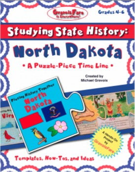 Studying State History: NORTH DAKOTA-- A Puzzle-Piece Time Line by GravoisFare