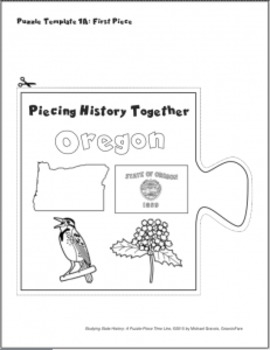 Studying State History: OREGON -- A Puzzle-Piece Time Line by GravoisFare