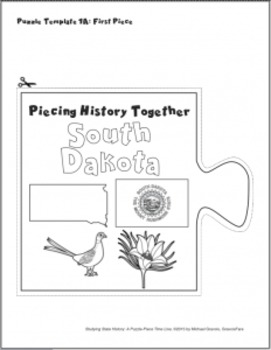 Studying State History: SOUTH DAKOTA -- A Puzzle-Piece Time Line by GravoisFare