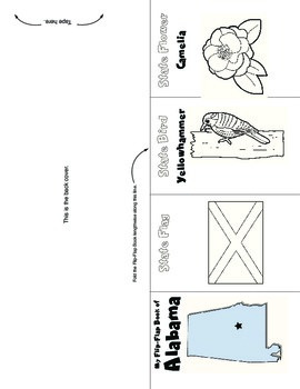 Studying States: Alabama—A Flip-Flap Foldable Filled with Facts, Flags, & More