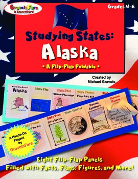 Studying States: Alaska—A Flip-Flap Foldable Filled with Facts, Flags, and More!