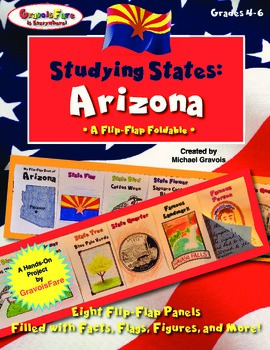 Studying States: Arizona—A Flip-Flap Foldable Filled with Facts, Flags, & More!
