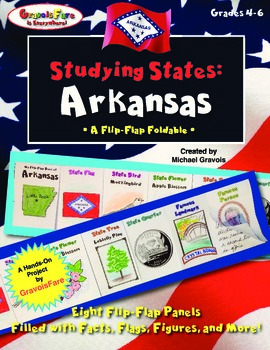 Studying States: Arkansas—A Flip-Flap Foldable Filled with