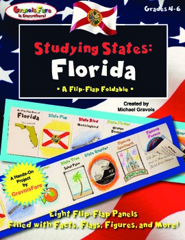 Studying States: Florida—A Flip-Flap Foldable Filled with Facts, Flags, & More!