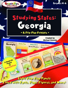 Studying States: Georgia—A Flip-Flap Foldable Filled with Facts, Flags, & More!
