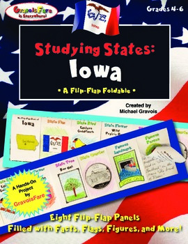 Studying States: Iowa—A Flip-Flap Foldable Filled with Fac