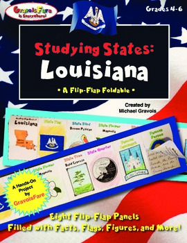 Studying States: Louisiana—A Flip-Flap Foldable Filled wit