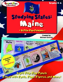 Studying States: Maine—A Flip-Flap Foldable Filled with Facts, Flags, & More!