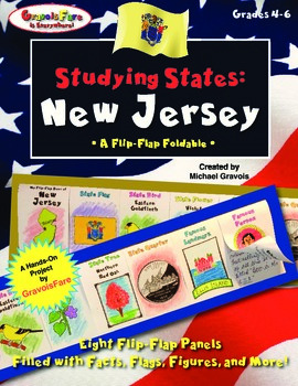 Studying States: New Jersey—A Flip-Flap Foldable Filled wi