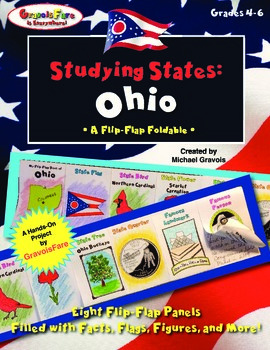 Studying States: Ohio—A Flip-Flap Foldable Filled with Facts, Flags, & More!