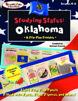Studying States: Oklahoma—A Flip-Flap Foldable Filled with Facts, Flags, & More!