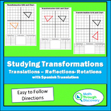 Studying Transformations - Translations - Reflections - Rotations
